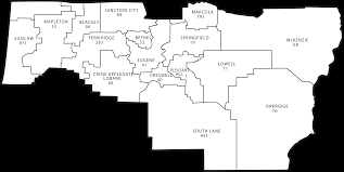 Oregon County Map by Lane County Districts