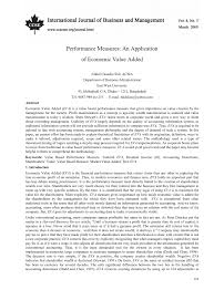 performance measures an application of economic value added pdf