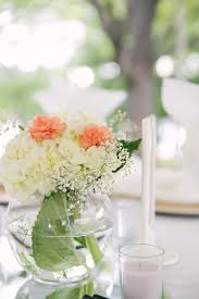 baby breath centerpieces hydrangea carnation and baby s breath centerpiece