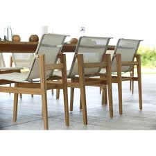 coast teak sling canvas outdoor side chair kathy kuo home