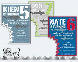 Create Birthday Invitation Cards Shark Birthday Invitations Kawaiitheo Com