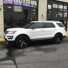 ford explorer 2017 black 24 inch dub push gloss black milled wheels on 2014 ford explorer w