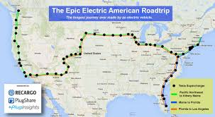 Map Routes by Route Map The Epic Electric American Roadtrip