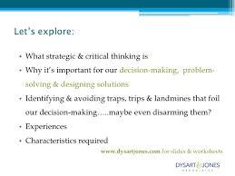 thinking strategically u0026 critically seeing possibilities