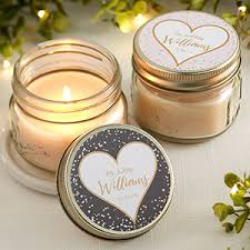 wedding candle favors personalized jar candle favors sparkling