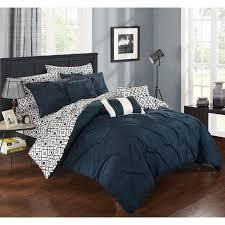 Pale Blue Comforter Set 7pcs Queen Royal Floral Bedding Comforter Set Navy Blue Best 25