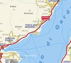 Italian Map Toscolano Maderno Maps Sno