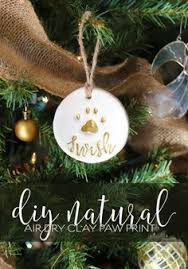 paw print ornament easy diy paws