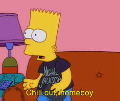 Bart Simpson Meme - bart simpson wears his michael jackson shirt the simpsons