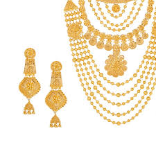 gold har set bridal rani haar necklace raj jewels