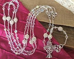 wedding lasso rosary wedding lasso authentic swarovski ab