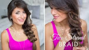 pull through braid two strand braid hairstyle youtube