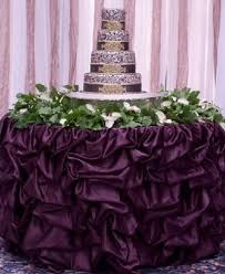 eggplant colored table linens your choice 17ft table skirt available in multiple sizes and colors