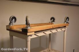 Building Wood Shelves Garage by Diy Rolling Garage Shelves Gf Video Diy Living Gardenfork Tv