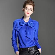 womens silk blouses shop sipaiya luxury silk blouse womens bow collar silk