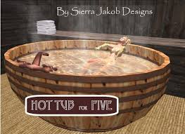 Bathtub Sale Second Life Marketplace Bathtub Barrel Tub With Bubbles