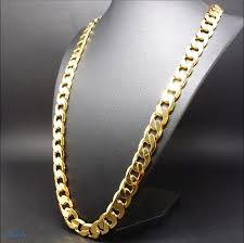 gold short chain necklace images Gold chain necklace 9mm 24k diamond cut smooth cuban link with a jpg