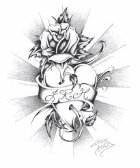 easy pencil drawings hearts and roses drawing art u0026 skethes
