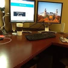Clean Computer Desk And The Clean Desk Day Winner Is The Shoeboxed Blog