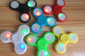 fidget spinner light up blue fidget hand spinner rolamento anti stress várias cores onart
