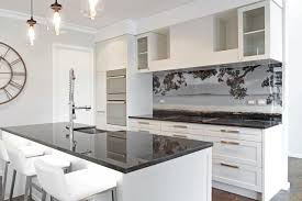 kitchen glass splashback ideas kohi paradise printed image on glass splashback modern