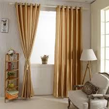 rideau fenetre chambre 2pcs rideaux fenêtre avec 6 oeillets couleur unie brillante pour