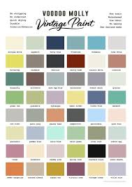 paint colour voodoo molly vintage paint colour chart the living room collective