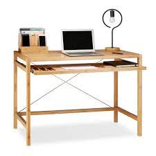 Computertisch Rollen Computertisch Holz Mit Tastaturauszug Kaufen Relaxdays De