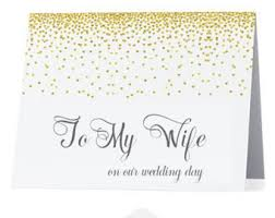 To My Bride On Our Wedding Day Card To My Bride On Our Wedding Day Card Bride Card For Bride