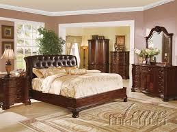 top grain brown leather headboard 6 piece saint clair bedroom set