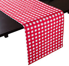 red and white table runner amazon com linentablecloth red and white checkered table runner 13