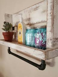 Bathroom Shelves Decorating Ideas Colors Best 25 Pallet Shelf Bathroom Ideas That You Will Like On