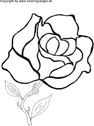coloring pictures of flowers for kids rose flower coloring pages