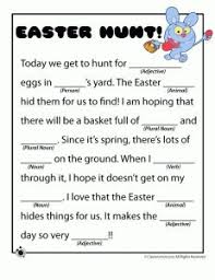 spring u0026 easter mad libs parts of speech mad libs and mad