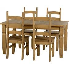 Corona Pine Ft Dining Table With  Chairs - Pine kitchen tables and chairs