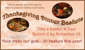 outreach thanksgiving dinner baskets the trailblazer