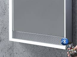 illuminated bluetooth bathroom mirror with speakers tavistock