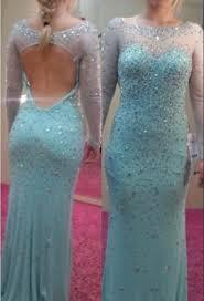 Light Blue Mermaid Dress Light Sky Blue Mermaid Long Prom Dresses Sheer Long Sleeves Open