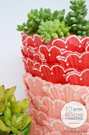 cupcake planter 12 months of martha jaderbomb