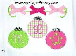 ornaments on a string applique design
