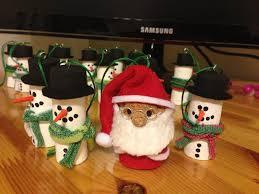 champagne cork santa with his wine cork snowman minions