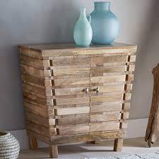 Mango Wood Side Table Mango Wood Slatted Side Cabinet Home Décor Vivaterra