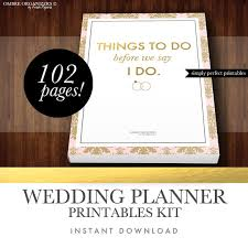 free wedding planning book wedding planner kit pdf digital printables for planning binder