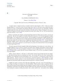langdell u0027s orthodoxy precedent jurisprudence