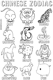 surprising chinese zodiac coloring pages chinese new year coloring