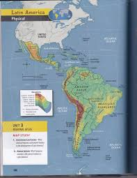 Latin America Physical Features Map Mr Izor U0027s Akins Geography 2017