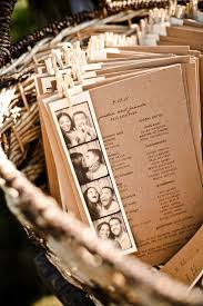 Magazine Wedding Programs Diy Wedding Crafts Photo Booth Strip Wedding Programs U2022 Diy