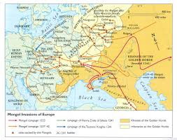 Mongolian Empire Map The Mongol Migrations Into Northern Europe Yahoo Image Search