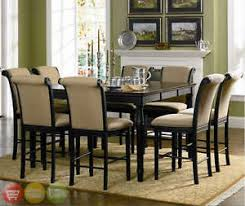 Traditional Counter Height Table  Piece Cappuccino Dining Room - Hyland counter height dining room table with 4 24 barstools