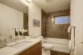 Bathroom Cabinets Seattle Contemporary Full Bathroom With High Ceiling U0026 Slate Tile Floors